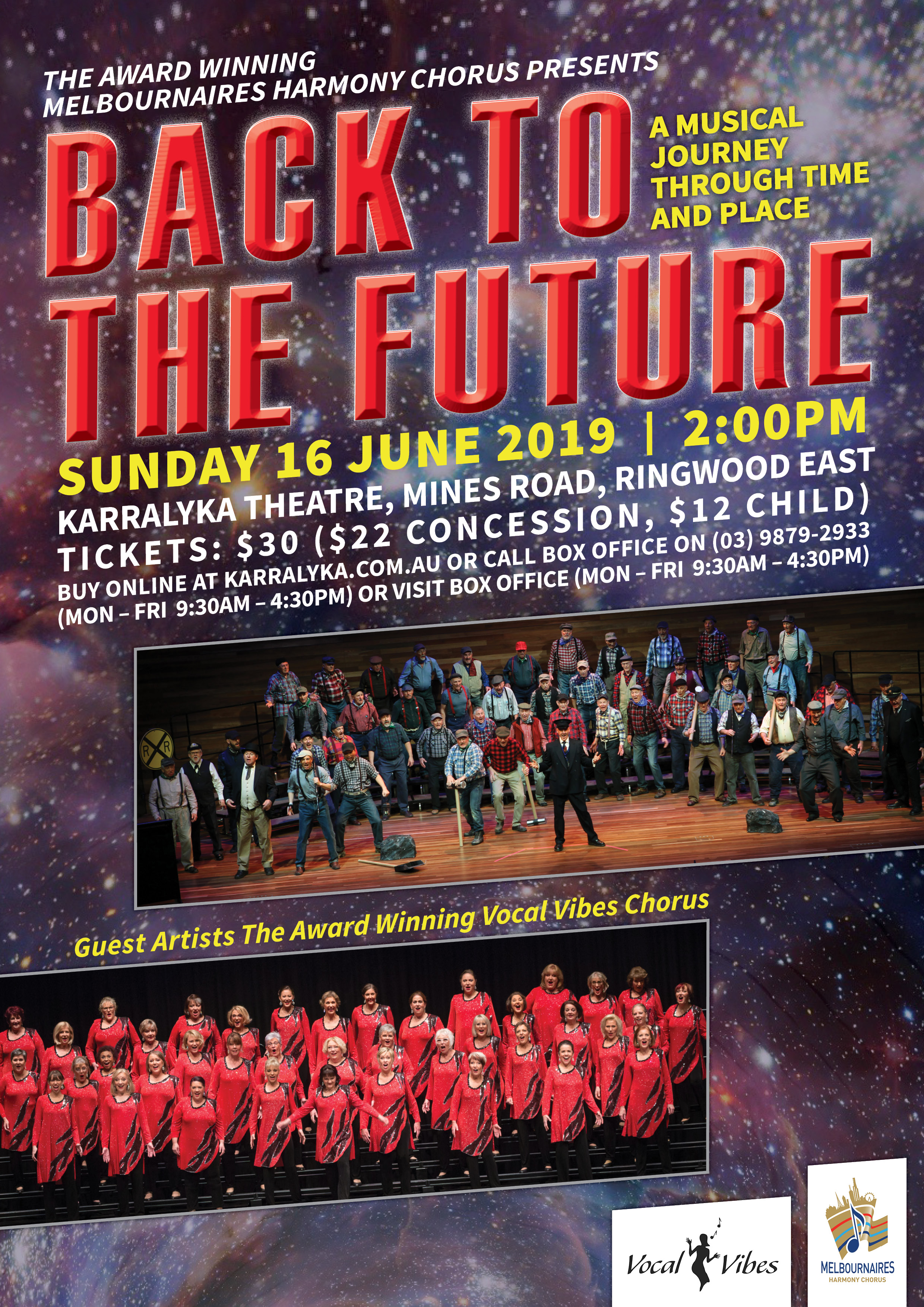 "Melbournaires Concert - ""Back to the Future"""